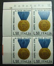1973 ITALIA  50 lire Medaglie D'Oro quartina  Varietà color  Bronzo  MNH**