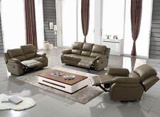 Voll-Leder Couch Relaxsofa Sofa Relaxsessel Fernseh-Sessel 5129-2+1-1106 sofort