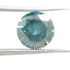 Loose Round Blue Natural Diamond 1.37 CT Solitaire Bridal Valentine Gift Engagem