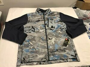 NWT $130.00 Under Armour Mens CG Storm Shoreman Hybrid Jacket RR Hydro Sz LARGE