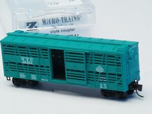 MTL 13806 Z-scale NEW YORK CENTRAL #28463 40' STOCKCAR MTL Couplers