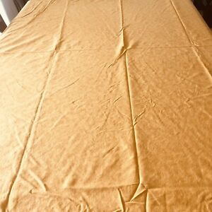 """LAURE JAPY Round 104"""" Tablecloth cotton, sunflower yellow purchased in Paris"""