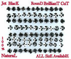 Natural loose Diamond AAA jet Black Round Brilliant Cut 0.50 Cts Q16
