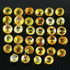 Round Yellow Loose Sapphires