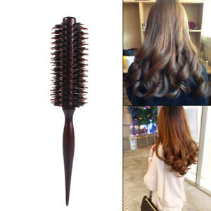 Wooden Handle Anti-static Curly Hair Roller Comb Hairdressing Radial Round Brush