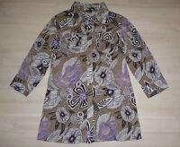 Michele Boyard Bluse Damen Gr.36 3/4-Arm Basic Longbluse Tunika Blusenshirt Lila