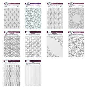Creative Expressions - Sue Wilson 3D Embossing Folders - NEW SEPT 20 - MULTIBUY