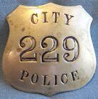 "RARE! Obsolete 1890-1900's San Antonio, Texas ""City Police"" ""blanket"" badge #229"