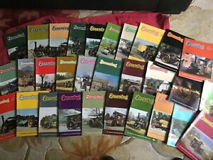 """NATIONAL TRACTION ENGINE TRUST """"STEAMING"""" MAGAZINES - 1983 to 1996 - 30 ISSUES"""
