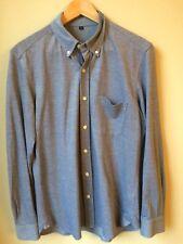 Men's Muji Blue Button-Up Shirt size L (M)