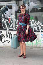 Kleid Handarbeit knielang 3/4 Ärmel True VINTAGE 60´s style women dress handmade
