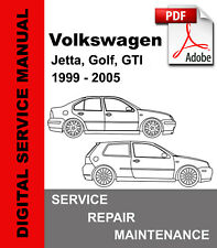 Volkswagen Vw 1999 - 2005 Jetta Golf Gti Service Repair Workshop Manual