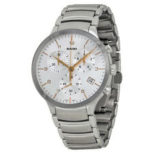 Rado Centrix Chronograph Silver Dial Stainless Steel Mens Watch R30122113
