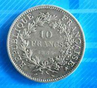 #0791# JOLIE PIECE DE 10 FRANCS HERCULE 1965 ARGENT/ TTB