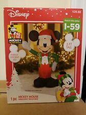Disney Mickey Mouse Inflatable Airblown 5ft LED NEW Christmas