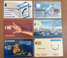 Set Of 6 France Telecom Phone Cards. Used