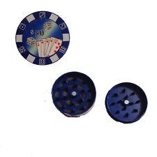 Tritatabacco Grinder fiches blu 3parti regalo uomo articolo per fumatori 5x2,5cm