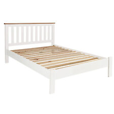 "Cream Painted Double Bed Oak 4ft 6"" / Bedroom / Solid Wood / Brand New Millbrook"