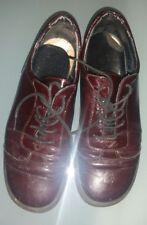 scarpe donna usate vernice bordeaux 35