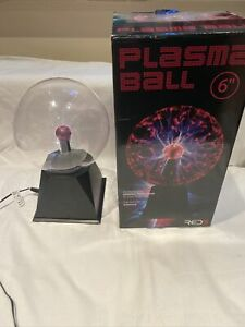 "Plasma Ball 6"" - RED5 - 6 Inches - Mains Powered - In Original Packaging - Used"