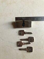 Bricard 1756 Cylindre de serrure double entr/ée Medial 30+30 Laiton Jaune