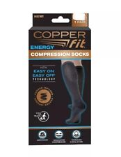 Copper Fit Easy On Compression Unisex Socks 2 Pack S/M