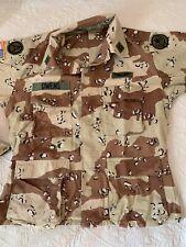 ORIGINAL RARE US ARMY UNIFORM & PATCH DESERT STORM 6-color coat trousers MEDIUM