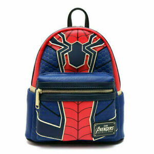 Loungefly Marvel Collab Mini Rucksack Iron Spider Man Red/Blue from Japan F/S
