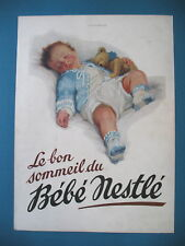 PUBLICITE DE PRESSE NESTLE BéBé LE BON SOMMEIL FRENCH AD 1931