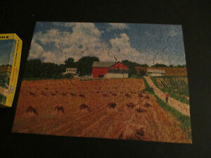 """Vintage Tuco Puzzle """"Golden Grain"""" Woodlike pieces in Excellent Condition"""