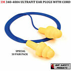ULTRAFIT REUSABLE EAR PLUG 3M E.A.R. 340-4004 WITH CORD NRR 25 (10 PAIR)
