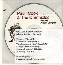 (CP592) Paul Cook & The Chronicles, Volume 1 sampler - 2012 DJ CD