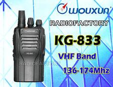 WOUXUN KG-833 VHF 136-174 Mhz radio DTMF CTCSS DCS Scan Radio FREE Earpiece