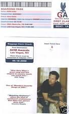 Gary Allan Airline Ticket 2007 ACM  Voter Request