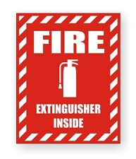 Fire Extinguisher Inside Safety Decal / Sticker Industrial Safety Label Marker
