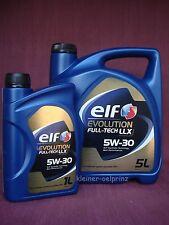 6 Litri Elf Evolution Full-Tech LLX 5W-30 olio motore VW / MB / BMW LONGLIFE