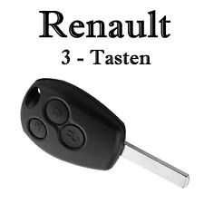 1x Autoschlüssel Gehäuse für Renault 3 Tasten Fernbedienung mit Rohling KS04NO
