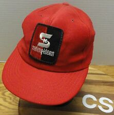 TRUE VINTAGE SAFETY-KLEEN RED TRUCKERS STYLE SNAPBACK HAT USA MADE VGC