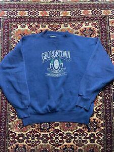 Vtg Georgetown Hoyas Crew Neck Sweatshirt Size L