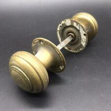 Reclaimed Solid Brass Pair Of Door Knobs Reeded georgian style Mortice Bloxwich