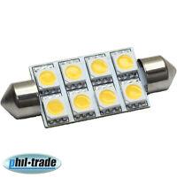 LED POWER 42mm Soffitte Lampe warm weiss 8 x 5050 SMD 12V Innenraum Beleuchtung