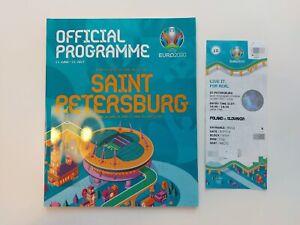 Ticket UEFA EURO 2020 Poland Slovakia, Match 10, Mint + Programme, 1 day auction