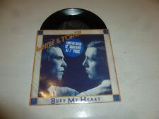 "White & TORCH-Bury My Heart - 1984 UK 2-track 7"" vinyl single"