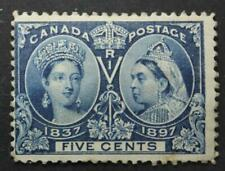 Canada #54, MH OG, Queen Victoria Jubilee Issue 1897, Gum Side Fault