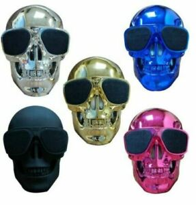 NEW HIGH QUALITY Skull Portable Bluetooth BT Audio Wireless Speaker fast deliver