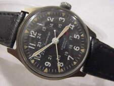 Vintage large antique Vietnam War MILITARY 24 HOUR DIAL SOVEREIGN COMBAT watch