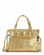 Juicy Couture Handbags-Couture Clash Leather Mini Daydreamer Gold-NWT-RP: $248