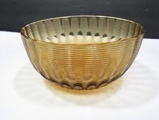 "Boston & Sandwich Amber Threaded Blown Glass Bowl 1880s 5"""