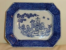 Chinese Blue and White Hand Painted Rectangular Dish -Very Rare!