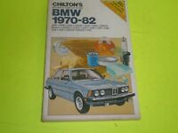 1970-1982 BMW  1600 2000 2002 2500 2800 3.0 320 528 530  CHILTON REPAIR MANUAL